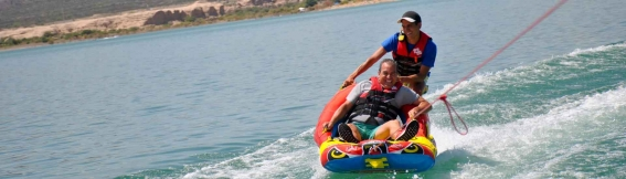 Wakeboarding, water skiing, wakesurfing and water sledding